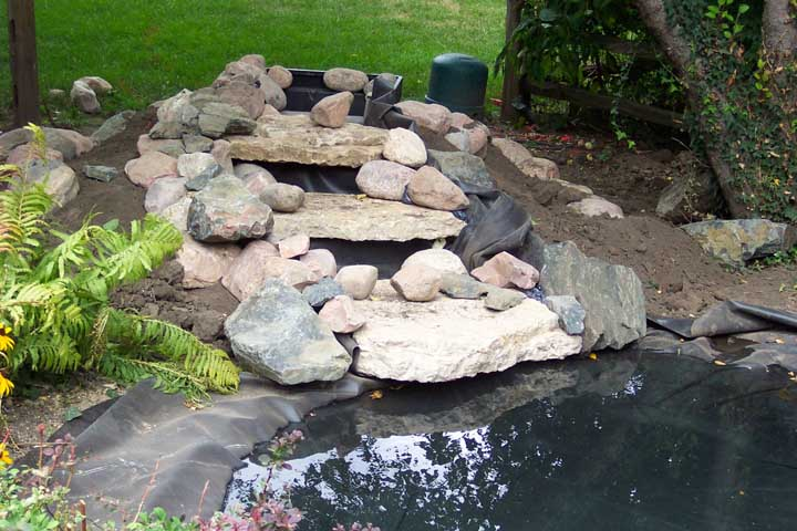Ponds joan sub for Building a fountain pond